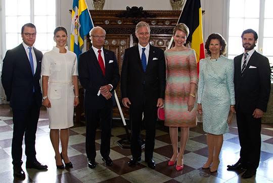 Kennismakingsbezoek aan zweden modekoningin mathilde - Mathilde ontwerp ...