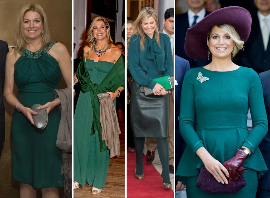 maxima groene jurk