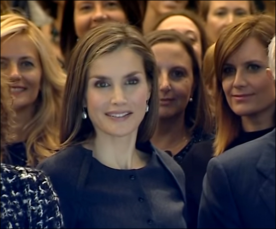 Koningin Letizia, conferentie in Madrid, 14 november 2016